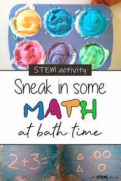 math stem skills shaving cream messy play bath time paint Preschool Learning Activities, Preschool Math, Hands On Activities, Kindergarten Activities, Stem Activities, Fun Math, Educational Activities, Toddler Activities, Teaching Resources