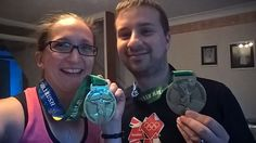 A pair of Gold Rush Virtual Race finishers! Gold Rush, Rings, Ring, Jewelry Rings, Wire Wrapped Rings