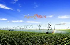 Photo about Irrigating a potato field. Image of irrigation, automatic, spray - 972303 Farm Tools, Agriculture, Farming, Irrigation, Vineyard, Stock Photos, Outdoor, Image, Potato