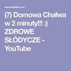 (7) Domowa Chałwa w 2 minuty!!! :) ZDROWE SŁÓDYCZE - YouTube Youtube, Youtubers, Youtube Movies