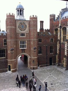 The view from Katherine of Aragon's rooms at Hampton Court Palace, London, UK