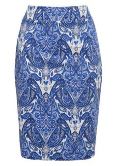 http://www.pinterest.com/architectlink/sherwin-williams/ F Paisley Print Pencil Skirt