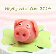 Frohes Neues Jahr... Marzipanschweinchen marzipan pig