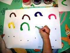 LA BRUIXA PERICUIXA.-Educació infantil-.: GRAFISME 4 ANYS.FEM CARES Preschool Writing, Preschool Art, Writing Activities, Gross Motor Activities, Craft Activities For Kids, Preschool Activities, Painting For Kids, Art For Kids, Kindergarten