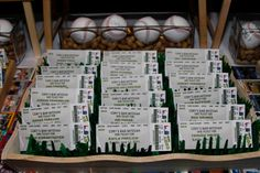 Life is Suite: Baseball Themed Bar-Mitzvah: Escort Card Table