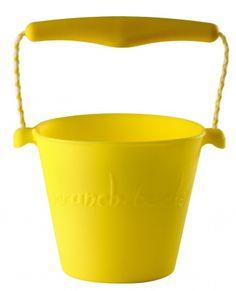 Składane wiaderko do wody i piasku Scrunch Bucket - Żółte