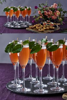 Gordon's Fruit & Leaf, served with Sloe Gin and Prosecco, is the perfect arrival cocktail for any wedding - why not peg a lime leaf to the glass for added fragrance and aesthetic. Gorgeous, rich colours and extravagant floral arrangements add a glamorous touch to this 2019 fall wedding theme.  Follow the link for recipe & method. #Ad #FallWedding #WeddingIdeas #ArrivalCocktail #AutumnWedding  #WeddingInspiration #WeddingCocktail #PreDinnerDrink #SloeGinCocktail #GinFizz #PersonalisedCocktail Sloe Gin Cocktails, Gin And Prosecco, Gin Fizz, Alcoholic Drinks, Autumn Wedding, Mojito, Clean Eating Snacks, Floral Arrangements, Fruit