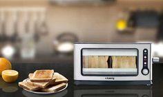 Le toaster View6 de H.Koenig est un grille pain transparent dont le design vitré permet de surveiller notre pain grillé sans effort.