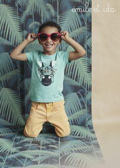 Mint green T-shirt Zebra - Emile & Ida