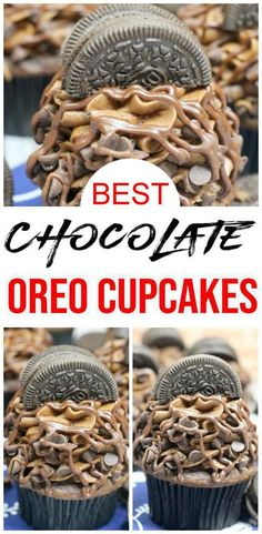 BEST Oreo Cupcake Recipe – Easy From Scratch Chocolate Cupcake Idea – Sweet Treats – Desserts – Parties, Oreo Cupcakes! BEST Oreo Cupcake Recipe – Easy From Scratch Chocolate Cupcake Idea – Sweet Treats – Desserts – Parties, Oreo Cupcakes, Cupcakes Amor, Best Chocolate Cupcakes, Coffee Cupcakes, Wedding Cakes With Cupcakes, Oreo Cake, Chocolate Oreo, Cupcakes Kids, Chocolate Muffins