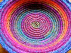 Crochet Coiled Basket