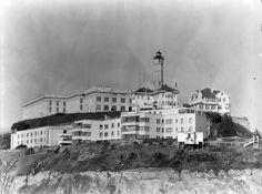 A photo of Alcatraz prison in 1954.