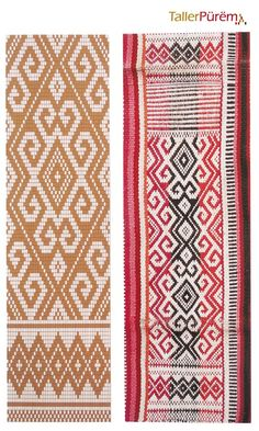Diseños en Gráficos | Taller Pürëm Inkle Weaving, Inkle Loom, Card Weaving, Tablet Weaving, Weaving Textiles, Weaving Patterns, Knitting Patterns, Crochet Patterns, Boho Tapestry