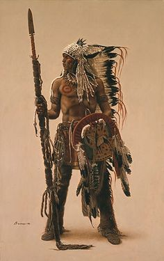 """Native American art of James Bama - """"Sioux Subchief"""""""