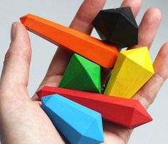 crystal shaped crayons. My nieces would love these! $6