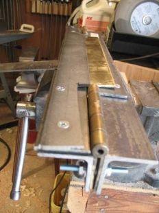 Sheet Metal Bender, Sheet Metal Brake, Metal Working Tools, Old Tools, Metal Projects, Welding Projects, Welding And Fabrication, Metal Bending, Metal Shop