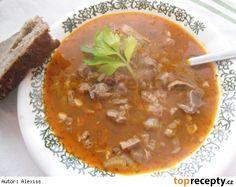 """""""Dršťková"""" polévka z kuřecích žaludků recept - TopRecepty.cz Thai Red Curry, Soup, Fruit, Ethnic Recipes, Life, The Fruit, Soups, Chowder"""