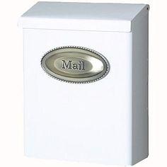 SOLAR -White Wall Mounted Locking Mailbox; $20.99