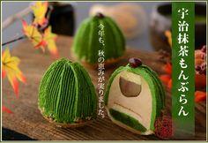 Matcha Montblanc Mini Desserts, Small Desserts, Asian Desserts, Plated Desserts, Weight Watcher Desserts, Japanese Pastries, Japanese Sweets, Japanese Food, Green Cake