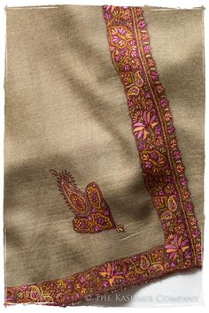 Collector's Edition Shawls — Seasons by The Kashmir Company Kashmiri Shawls, Kashmiri Suits, Indian Patterns, Textile Patterns, Chintz Fabric, Hand Embroidery, Border Embroidery, Cashmere Shawl, Indian Textiles