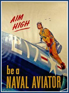 US Navy Naval Aviation Korean War Advert Print by BloominLuvly, $9.95