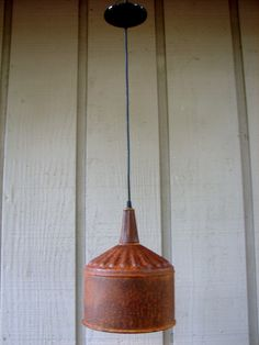 Industrial Funnel Hanging Light by BenclifDesigns on Etsy