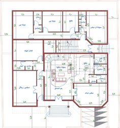 تصميم فيلا مع شقق خلفيه الرجاء ابداء ارائكم واقتراحاتكم 10 Marla House Plan, 2bhk House Plan, Square House Plans, 3d House Plans, Indian House Plans, Model House Plan, Simple House Plans, House Layout Plans, Home Design Floor Plans