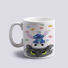 stitch baymax and toothless how to train dragon Ceramic Coffee Mug 11oz 2 Sides #MugDesign