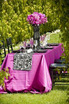 Outdoor Wedding Bright Orchid