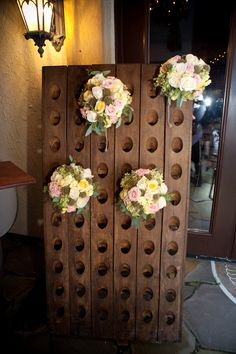 Riddle rack with bouquets Riddling Rack, Virginia Wineries, Tuscan Style, Casual Wedding, Wine Tasting, Old World, Creative Business, Real Weddings, Vines