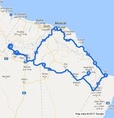 Oman Road Trip Itinerary -- Our projected route through Oman for 8 days with kids!