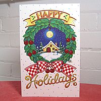 Holiday Cottage - Christmas Card