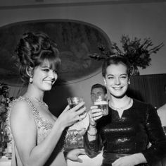 Claudia Cardinale and Romy Schneider.