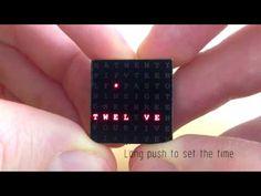 Micro Word Clock v2 by Daniel Rojas