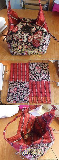 Conectamos cuadrados, coser bolsa