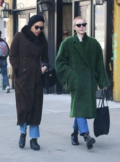 Chloe Sevigny goes for a walk with a friend in the East Village, NY on February 15, 2017. The prolific actress recently released her second directorial effort, a short film titled 'Carmen.'