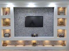 Living Room Wall Designs, Wall Unit Designs, Living Room Wall Units, House Ceiling Design, Tv Wall Design, Home Room Design, Küchen Design, Interior Design Living Room, Tv Unit Interior Design