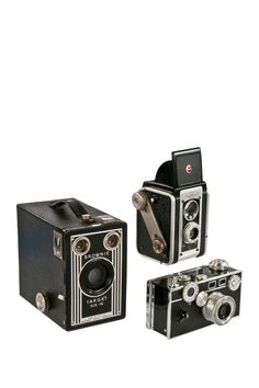 Set of Three Vintage Cameras - Argus Kodak Duraflex and Brownie