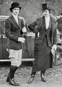 Lady Isobel and Lady Ursula Manners, Belvoir meet, Leicestershire, 1935
