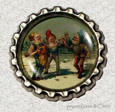 -f068b- Kronkorken Magnet,  ZWERGE 2, € 2,80 , bottlecap von Mondcatze´s Zauberwerkstatt auf http://de.dawanda.com/shop/Mondcatze