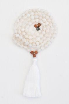 I Am Intuitive Mala - Rudraksha – Mala Collective Mala Meditation, Yoga Mala, Religious Jewelry, Chakra Stones, Bracelets For Men, Rope Bracelets, Women's Earrings, Silver Earrings, Gemstone Beads