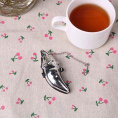 New Design Stainless Steel Eggplant Shape Tea Ball Tea Infuser Tea Strainer Office-used Convenient Clean