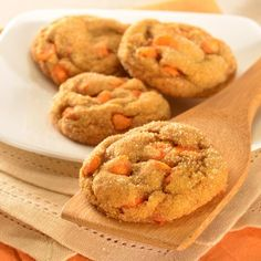 Pumpkin Spice Molasses Cookies: I made these and they are the perfect amount of chewy ginger molasses cookie! I used a rounded 1/2 cup of pumpkin, rounded 1/4 tsp. Ginger, 1 tsp cinnamon and accidently used the whole 1 1/3 c. sugar in the cookie dough. Perfect fall Holiday cookie!