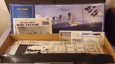 R.M.S. TITANIC MUSEUM QUALITY 1/350 TH SCALE DELUXE MODEL KIT. WITH REAL GOLD