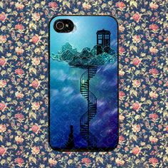 Tardis In The Victorian Sky Art for iPhone 4, iPhone 4s, iPhone 5 /5s/5c, Samsung Galaxy S3, Samsung Galaxy S4 Case