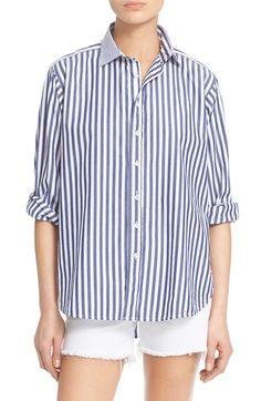 rag & bone/JEAN Button Front Boyfriend Shirt