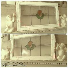 VINTAGE 1920s ENGLISH COTTAGE CHIPPY RECLAIMED STAINED GLASS WINDOW ANOUSKACHIC UPCYCLE SHABBY CHIC. AnouskaChic Store. Description Beautiful original 1920s stained glass window, chippy shabby chic.