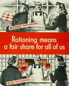 Rationing ~  WW2 Ration Poster