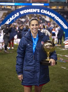 Carli Lloyd, winner of the Golden Ball as the top player in the 2014 CONCACAF championship tournament. (U.S. Soccer)