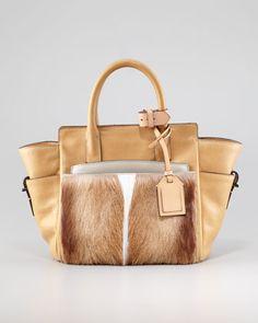 Atlantique Mini Fur/Leather Tote Bag, Spring by Reed Krakoff at Bergdorf Goodman.